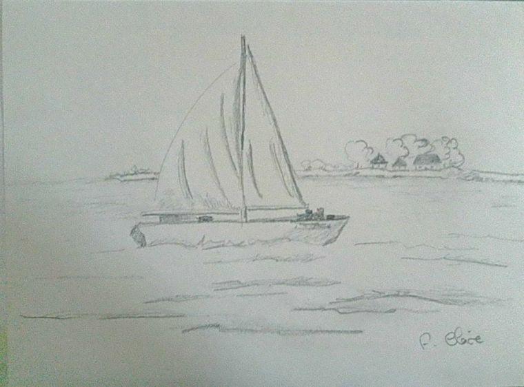 Barca In Mare Impara A Disegnare Abbozzo A Matita Disegni A Matita Disegni A Matita Facili Disegni