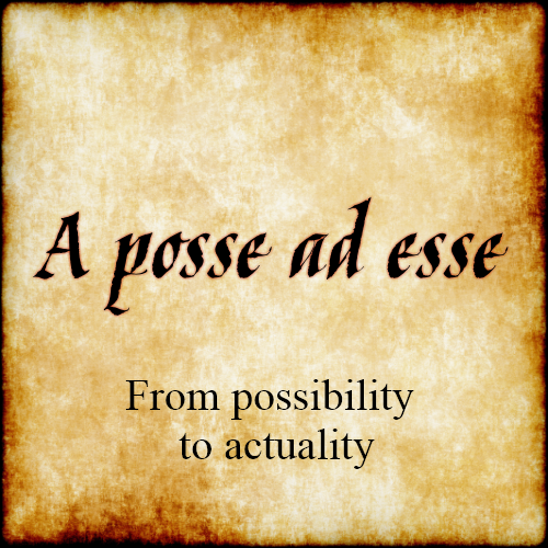 a posse ad esse from possibility to actuality quotes. Black Bedroom Furniture Sets. Home Design Ideas