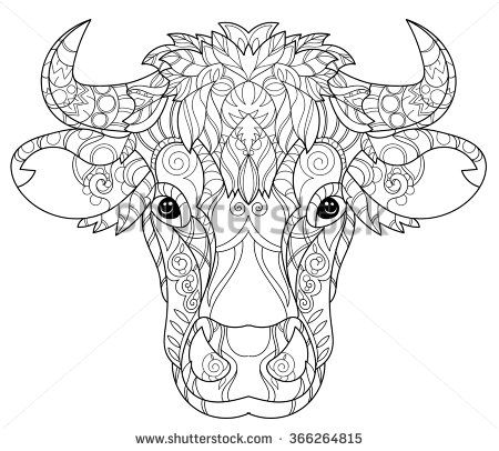 decorated cow heads - Google Search | coloring pages | How
