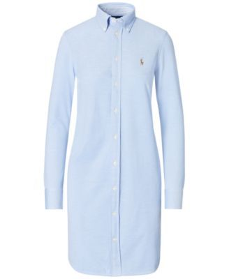 41a5c22bd Polo Ralph Lauren Knit Oxford Cotton Shirtdress - Navy XL | Products ...