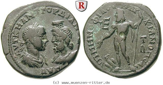 RITTER Moesia Inferior, Markianopolis, Gordianus III., Serapis, Zeus, Adler #coins