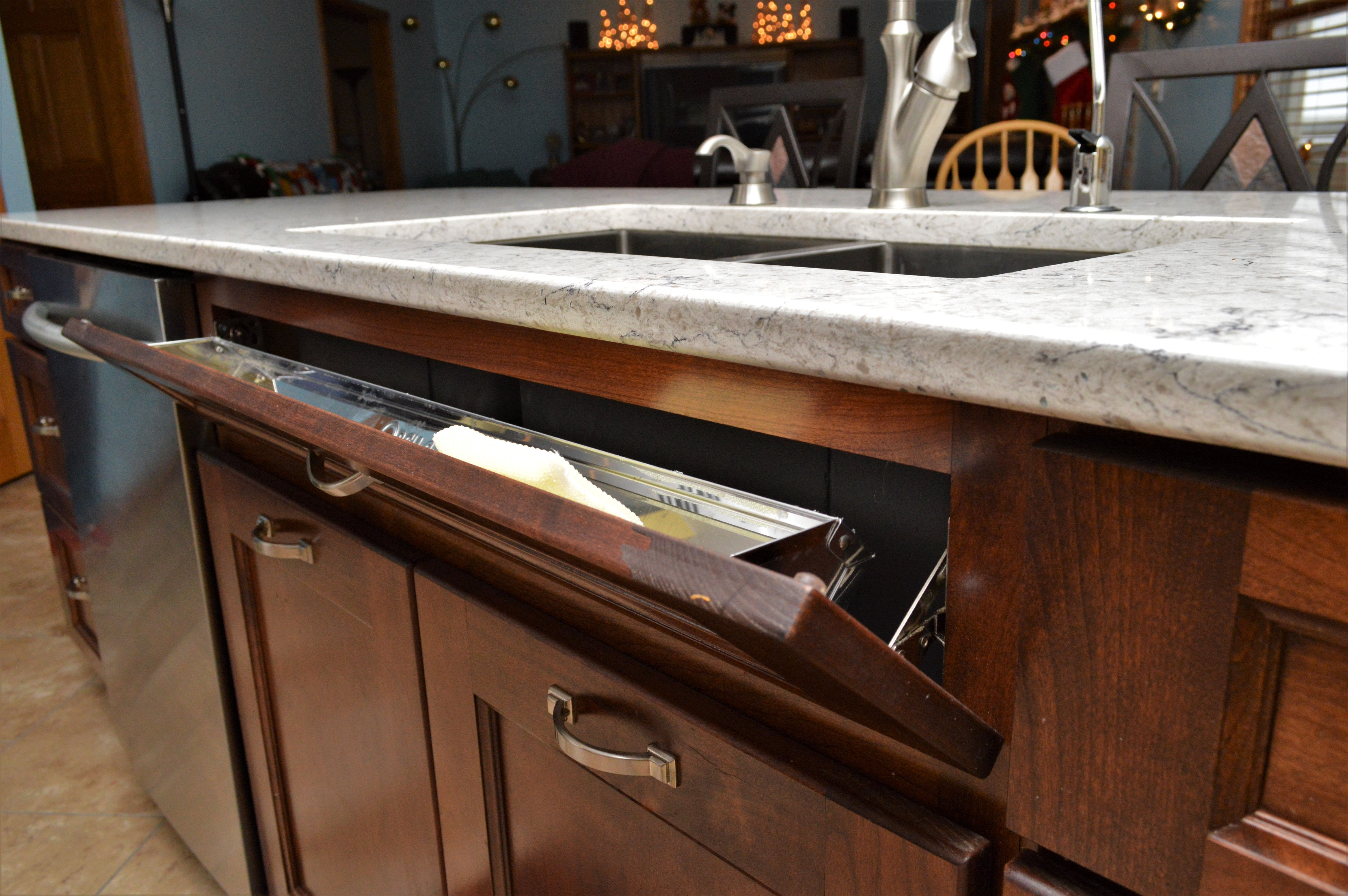 Tilt Out Sink Tray Cabinet Brand Haas Signature Collection Wood Species Cherry Cabinet Finish Pecan Door Style Tud Cabinet Accessories Home Decor Decor