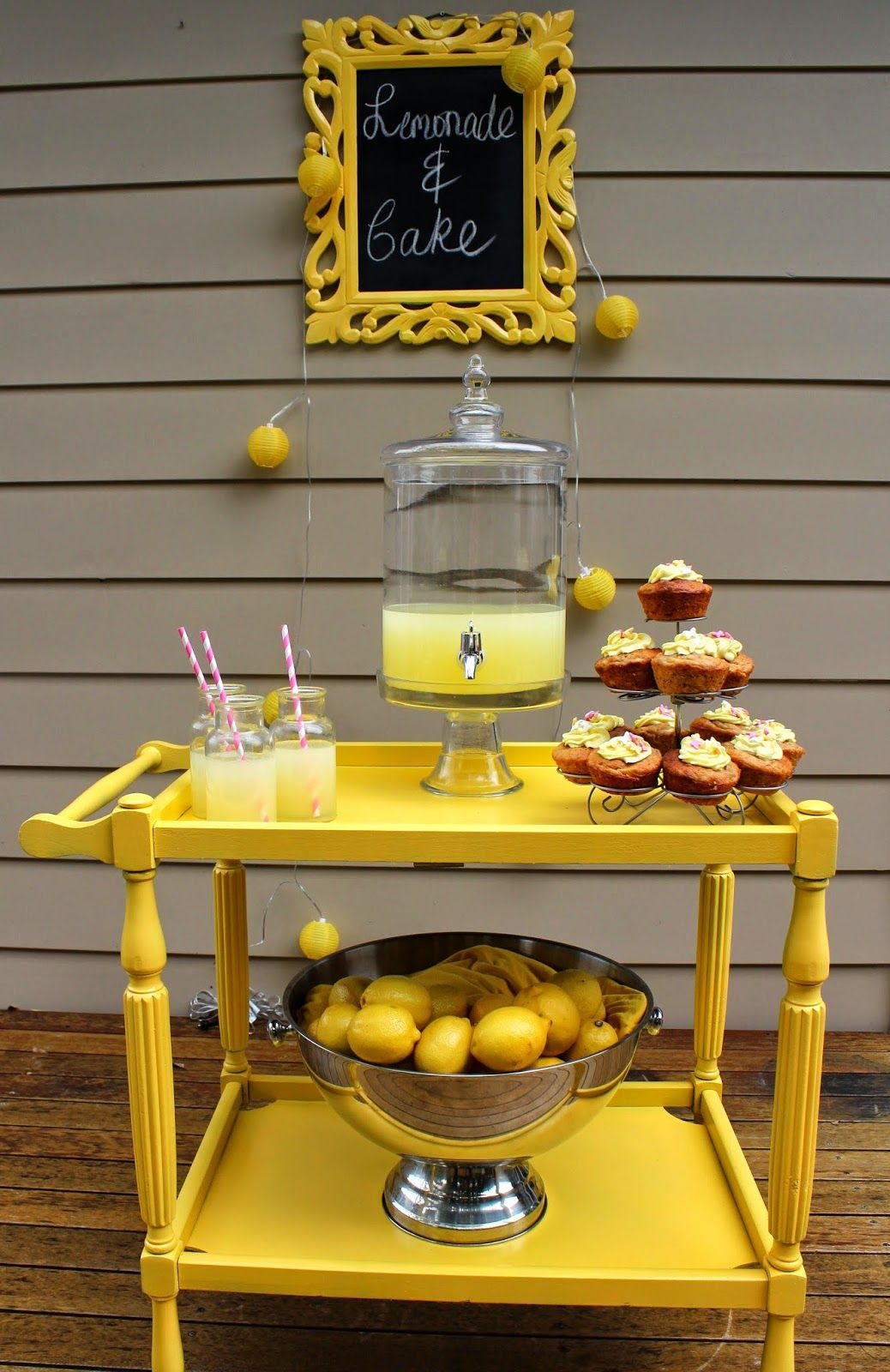 How to Make an Easy Lemonade Stand and A Paint Giveaway | Desire Empire