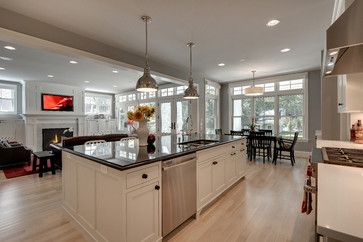 Kitchen Dining Room Remodel Impressive Kitchen Dining Room Hearth Room Combo  Kitchen Dining Room Decorating Inspiration