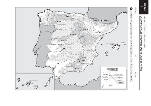 Worksheet. MAPAS  Mapas Espaa y Geografa fsica