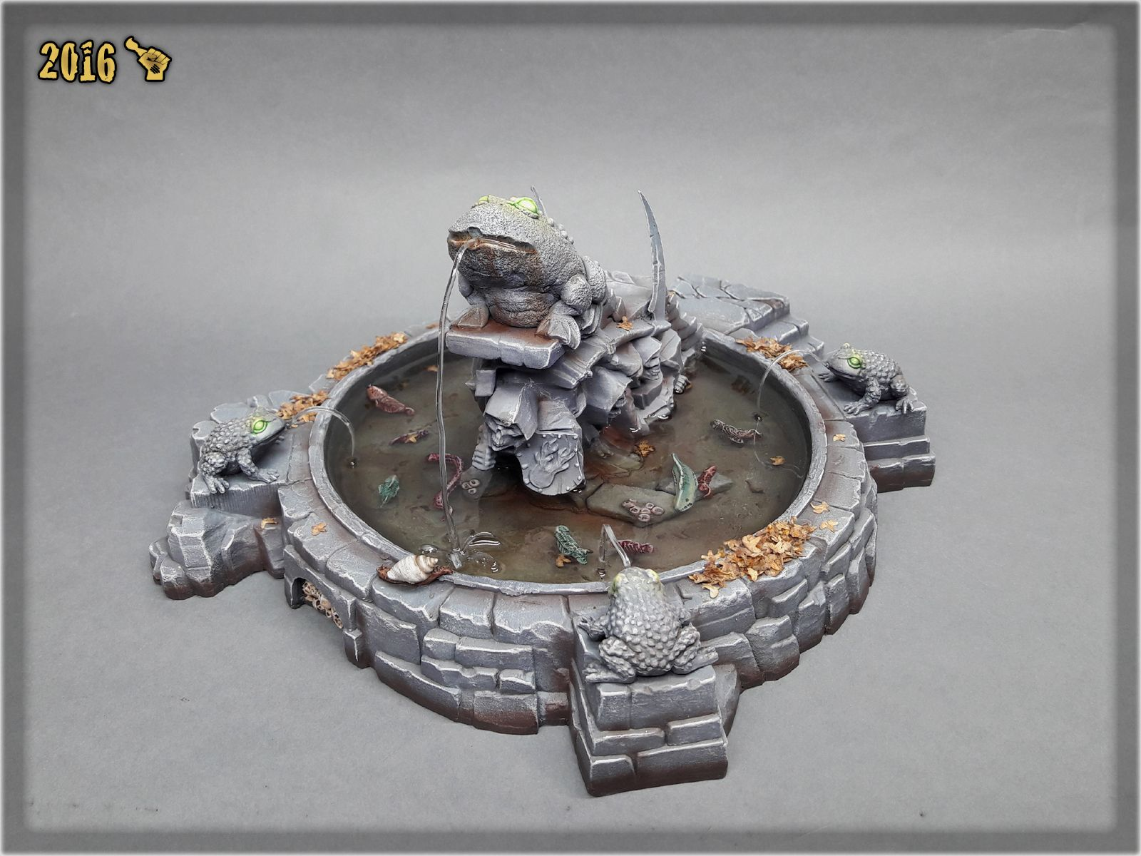 """""""MORDHEIM TOAD FOUNTAIN"""" SPECIAL PROJECT   Scar_hand Painting"""