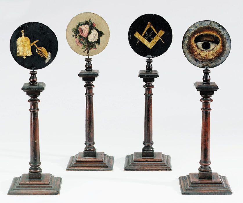 MASONIC TINS Decorative Arts Secret society symbols