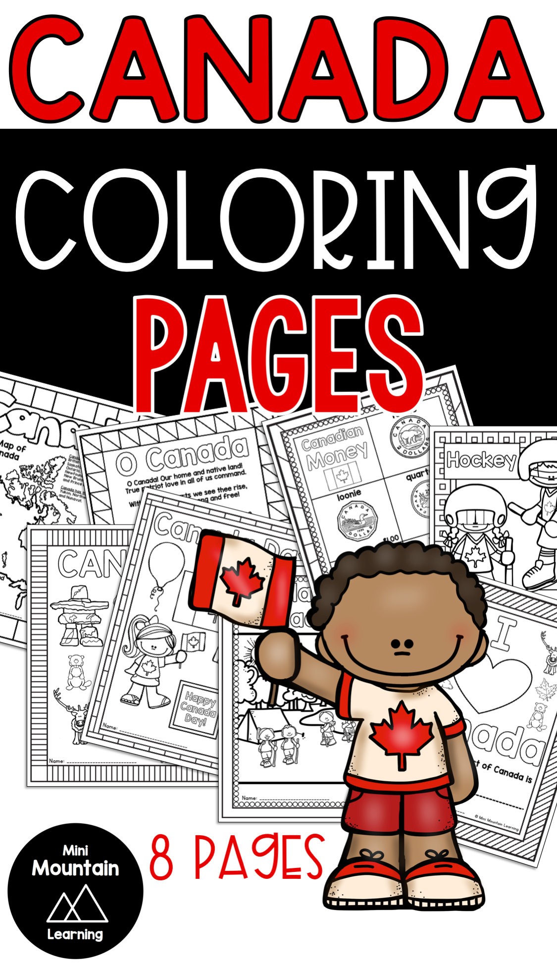 Canada Coloring Pages New year coloring pages, Mothers