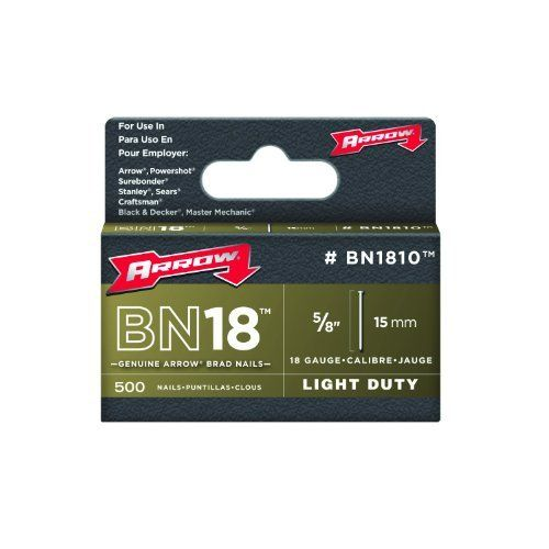 Arrow Fastener Bn1810 Genuine 5 8 Inch Brown Brad Nails 500 Pack By Arrow 5 28 From The Manufacturer Brad Nails Air Tools