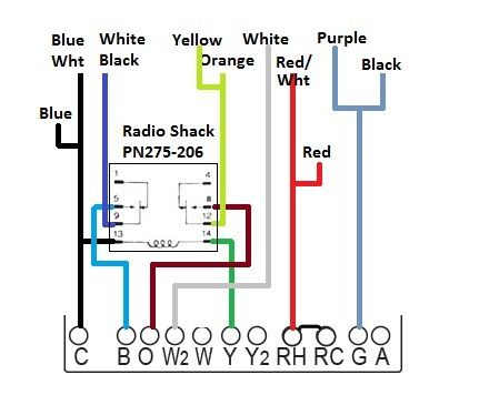 Honeywell Thermostat Wiring Diagram 4 Wire