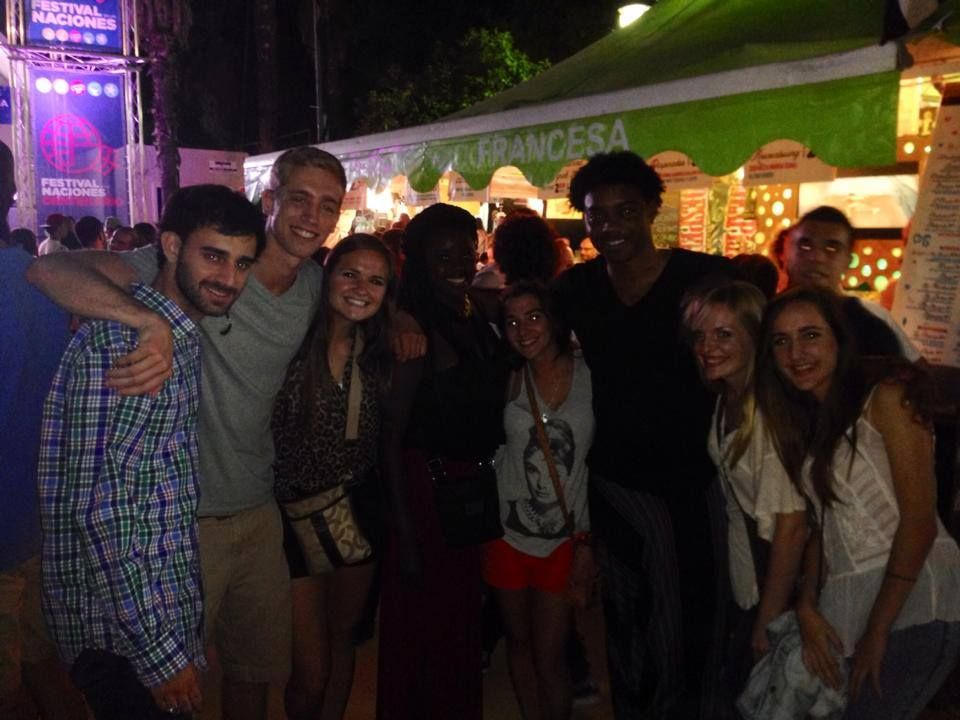 International Students spotted at Feria De Las Naciones, enjoying tastes from all around the world!