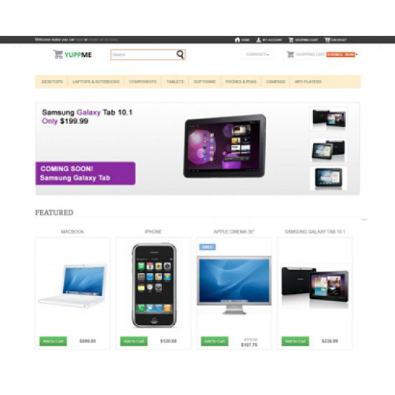 This free Bootstrap OpenCart theme features a responsive layout