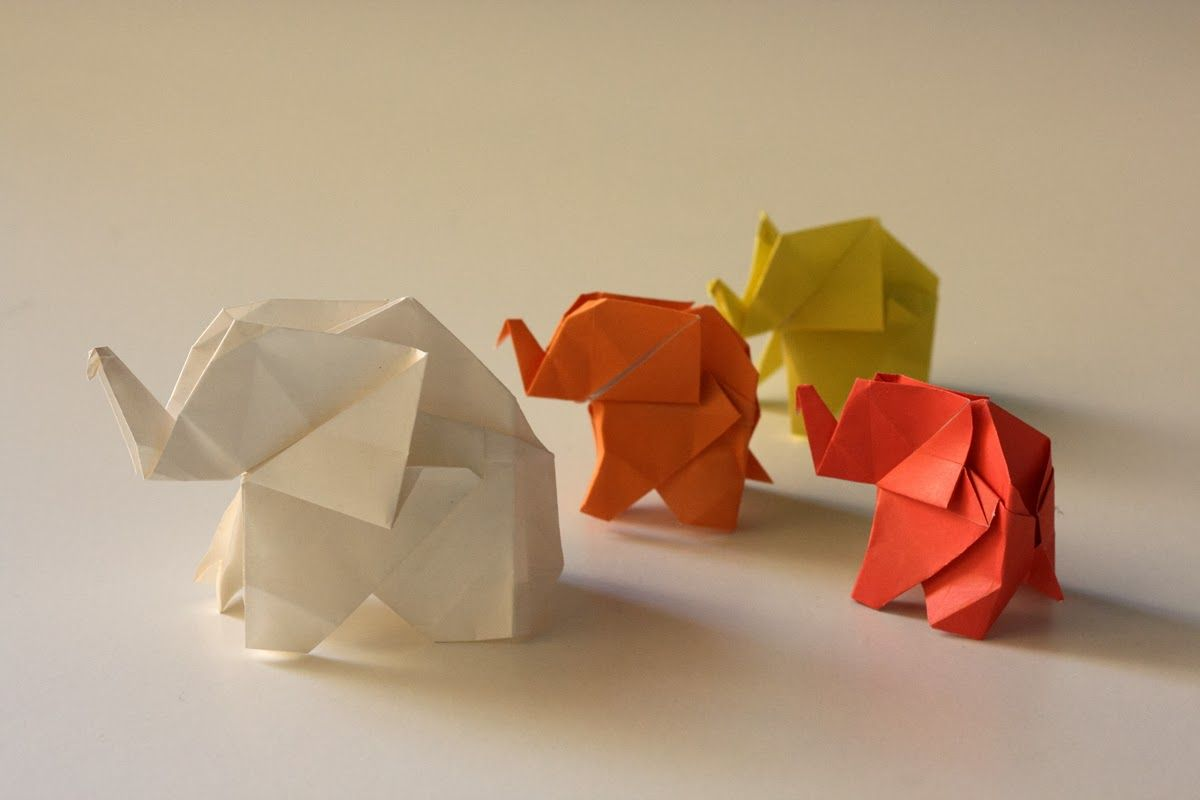 Origami Maniacs: Origami Elephant by Fumiaki Kawahata ... - photo#6