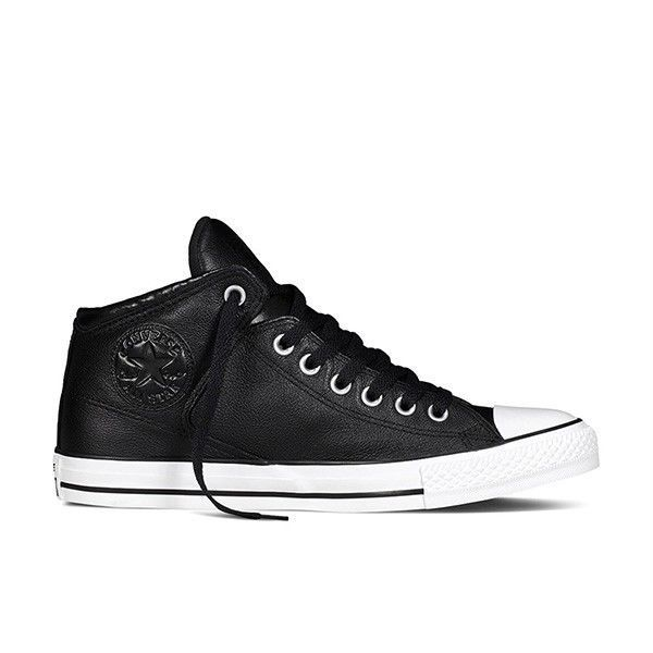 5d13d9cfc4b CONVERSE CT CHUCK TAYLOR ALL STAR HIGH STREET HI MENS 149426C Black Leather  NEW  Converse  Athletic