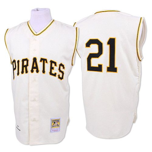 huge selection of e465a b745d Pittsburgh Pirates Authentic 1960 Roberto Clemente Home ...