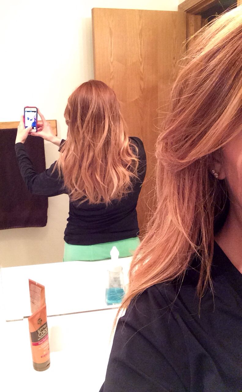 Natural red hair ombre hair color pinterest red hair ombre