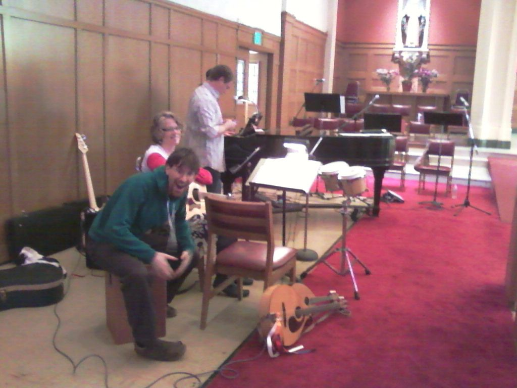 The band is getting ready! Welcome to St. Augustine's Catholic Church in Oakland, CA.