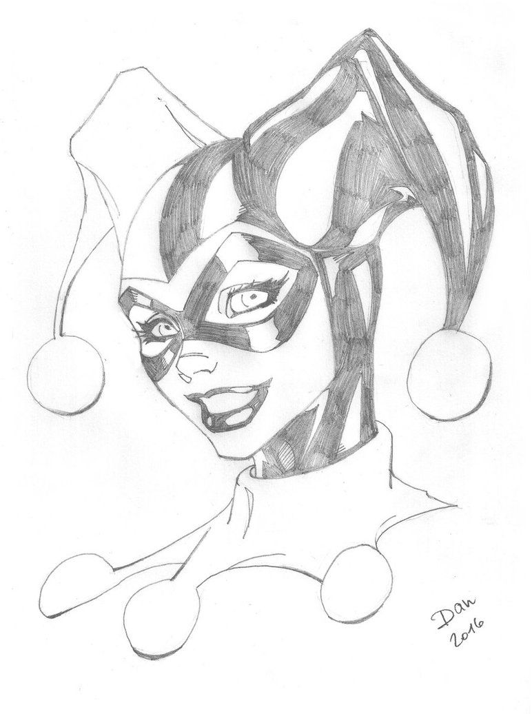 Pencil drawing of harley quinn harley quinn pencils by docflint