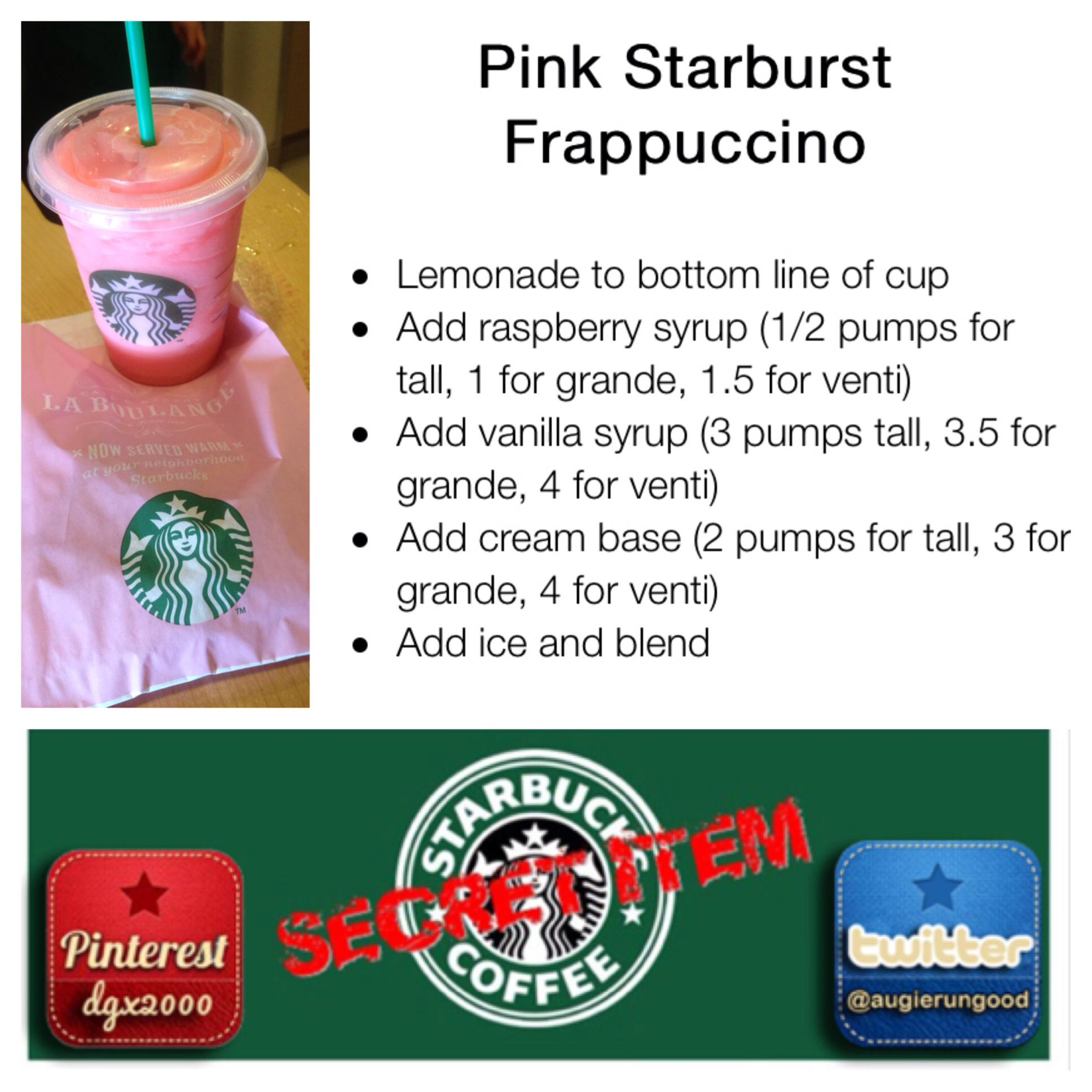 Starbucks Secret Menu Item - The Pink #Starburst. All I have to say ...