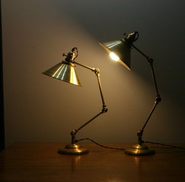Articulating Brass Table Lamp  table lamps