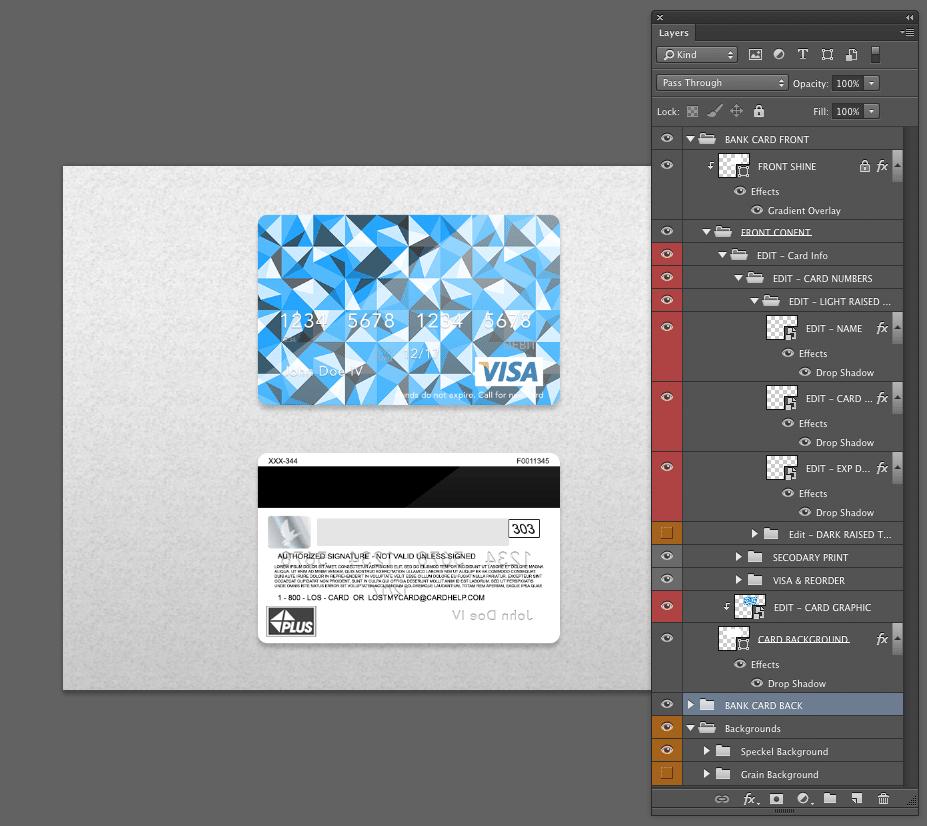 Free Bank Card (Credit Card) PSD Template