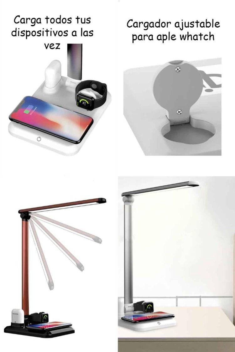 Lamparaled Inalambrica Cargartucelular Smartwatch Airpods Colorplata Metal Accesorios Tecnologia I Productos Innovadores Lamparas De Mesa Lampara Led
