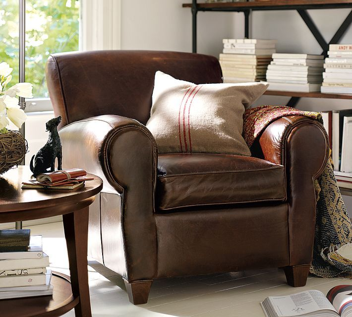 Decor Look Alikes | #8 Most Pinned Look Alike: Pottery Barn Manhattan Leather  Chair And Ottoman
