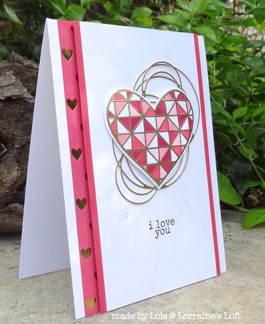 Lorraine S Loft Simon Says Stamp Circle Loops Hand Crafted Cards Valentines Cards Valentine Day Cards
