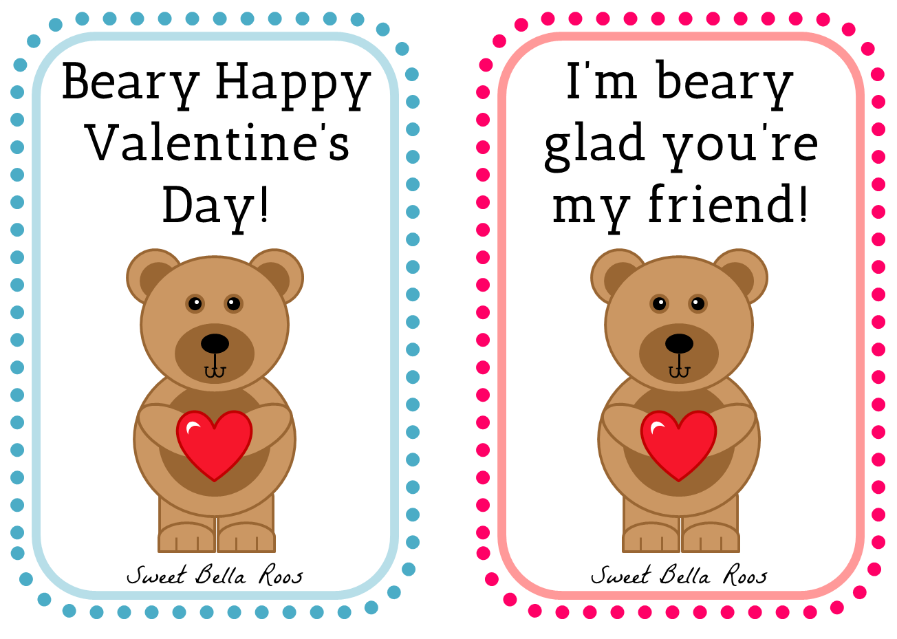 Free Valentines Day Printables Sweet Bella Roos – Valentine Card Friend