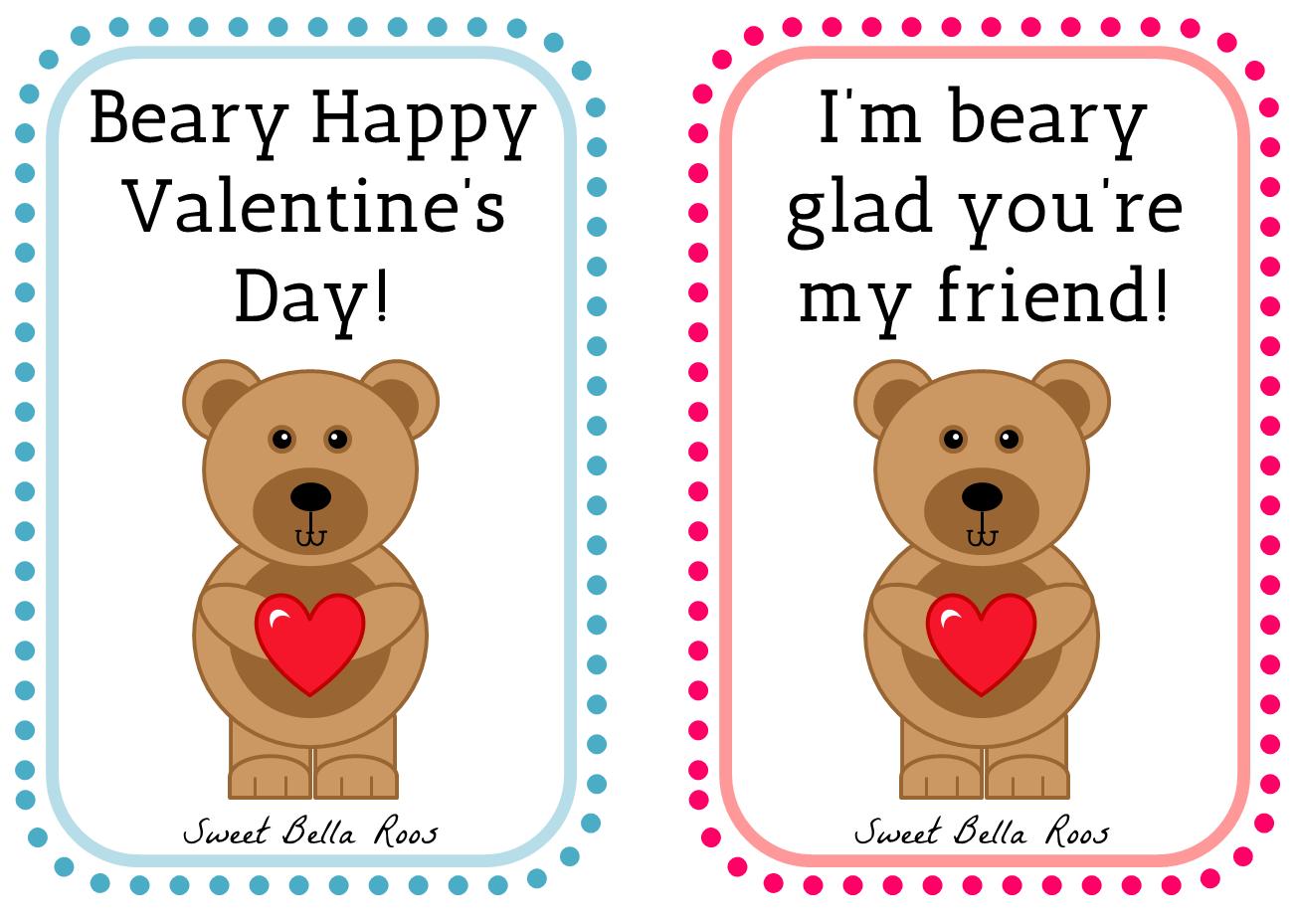 Free Valentine S Day Printables Sweet Bella Roos