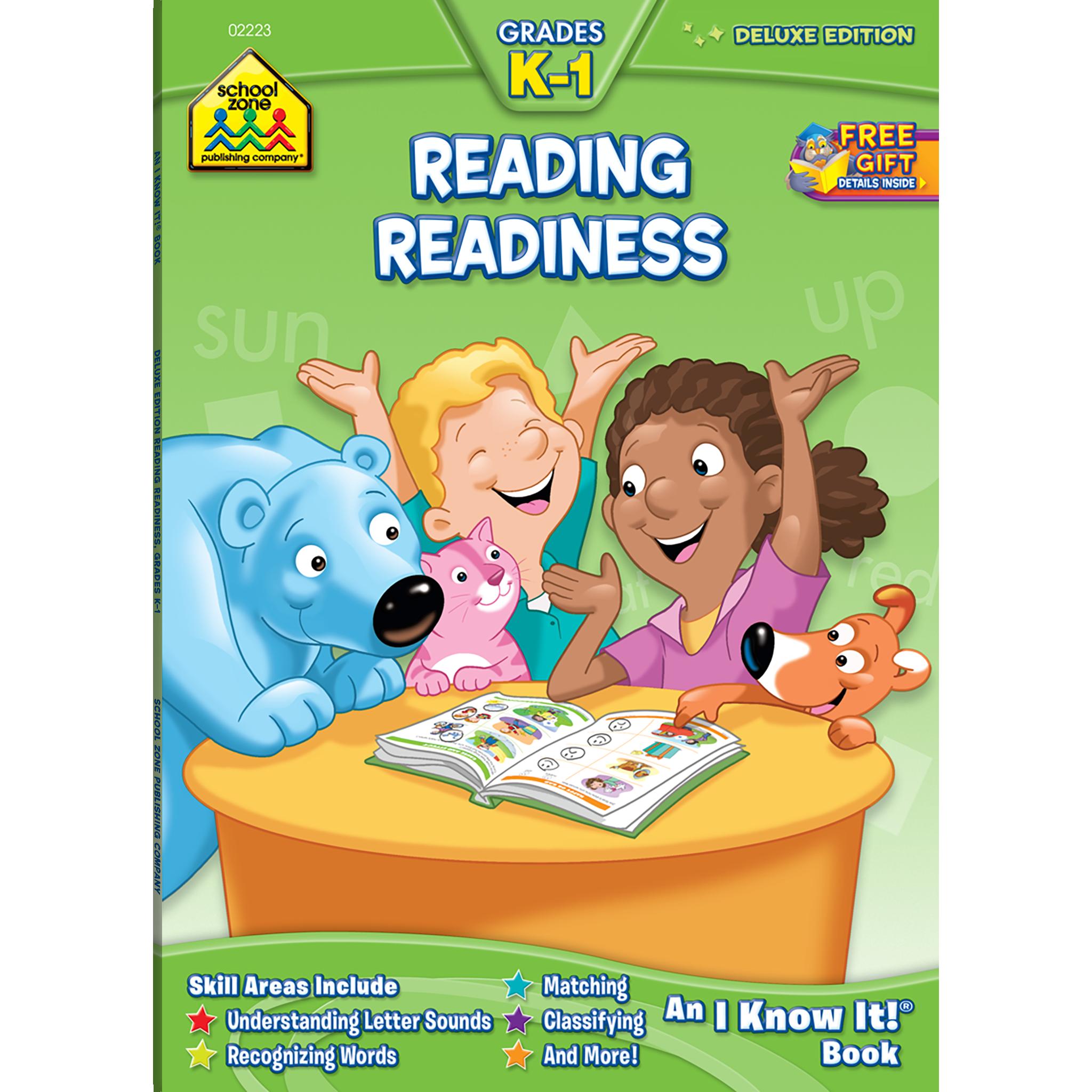 Reading Readiness Grades K 1 Workbook