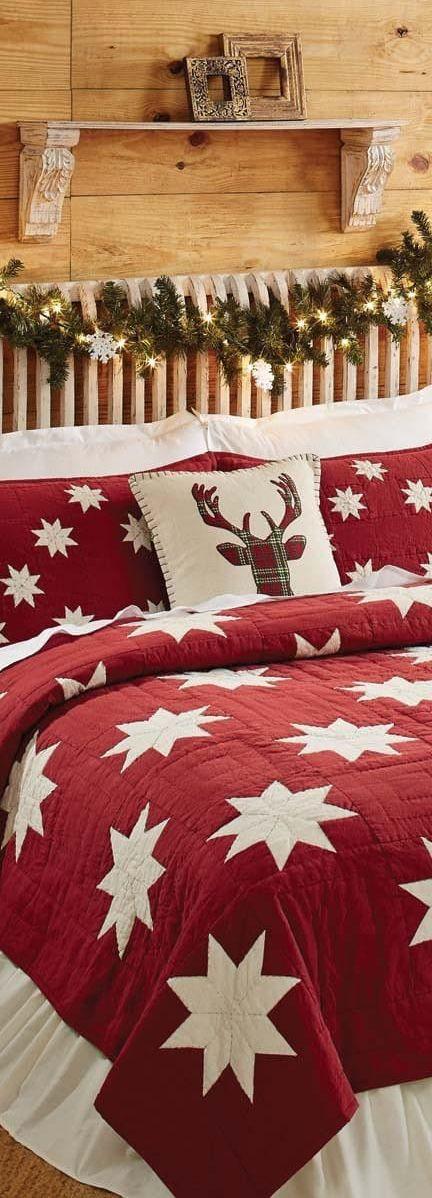 Christmas Quilt Bedding #christmas CHRISTMAS Pinterest Quilt