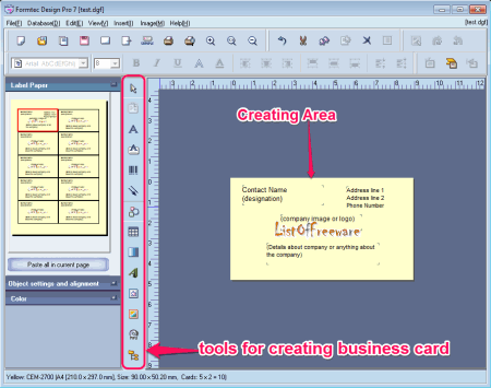 7 best free business card maker software for windows - Business Card Maker Software