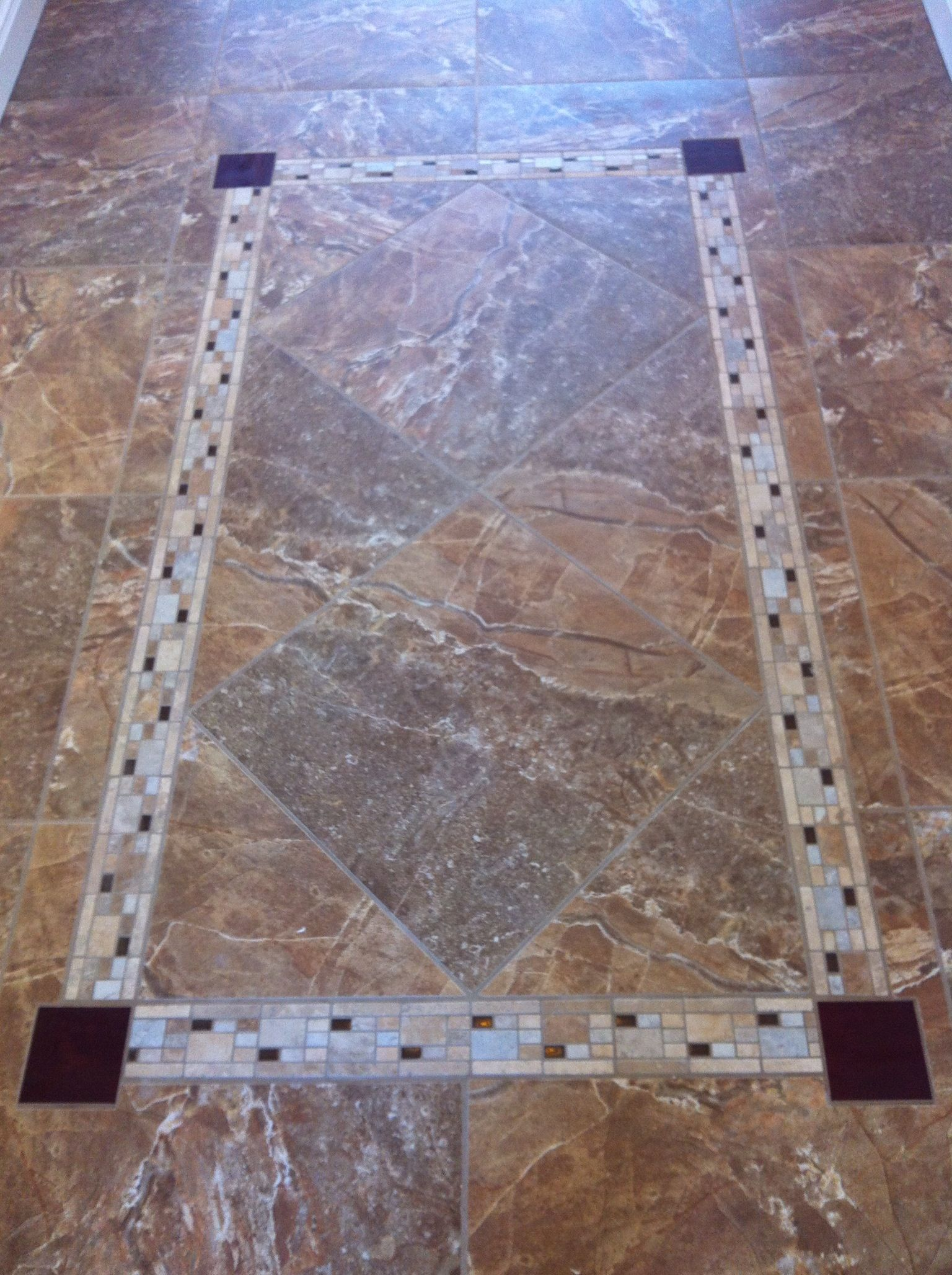 Entry Way Tile Insert Ldi And Listello Bedrosians Glass For Cornerstones Set William