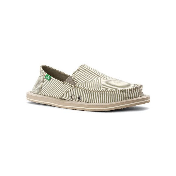 Sanuk Donna Polo Slip-Ons (72 CAD) ❤ liked on Polyvore featuring shoes