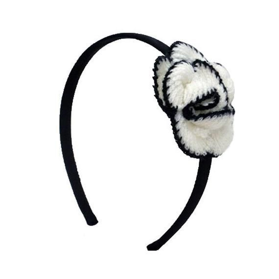 Mia® Crocheted Flower Headband, Fashionable Hair Accessory, Black + White, for Women, Teens, Girls,  Mia® Crocheted Flower Headband, Fashionable Hair Accessory, Black + White, for Women, Teens, Girls #Accessory #Black #Crocheted #fashionable #Flower #Girls #hair #Headband #Mia #teens #white #Women