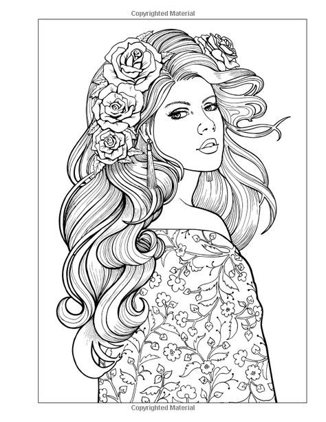 Color Me Beautiful, Women of the World: Adult Coloring