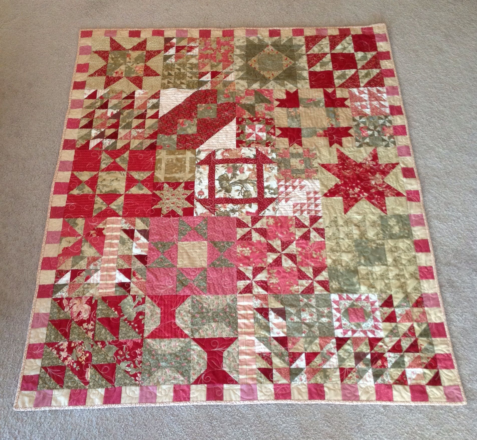 2013 Free Online Block of the Month Sampler from Country Threads ... : country threads quilt shop - Adamdwight.com