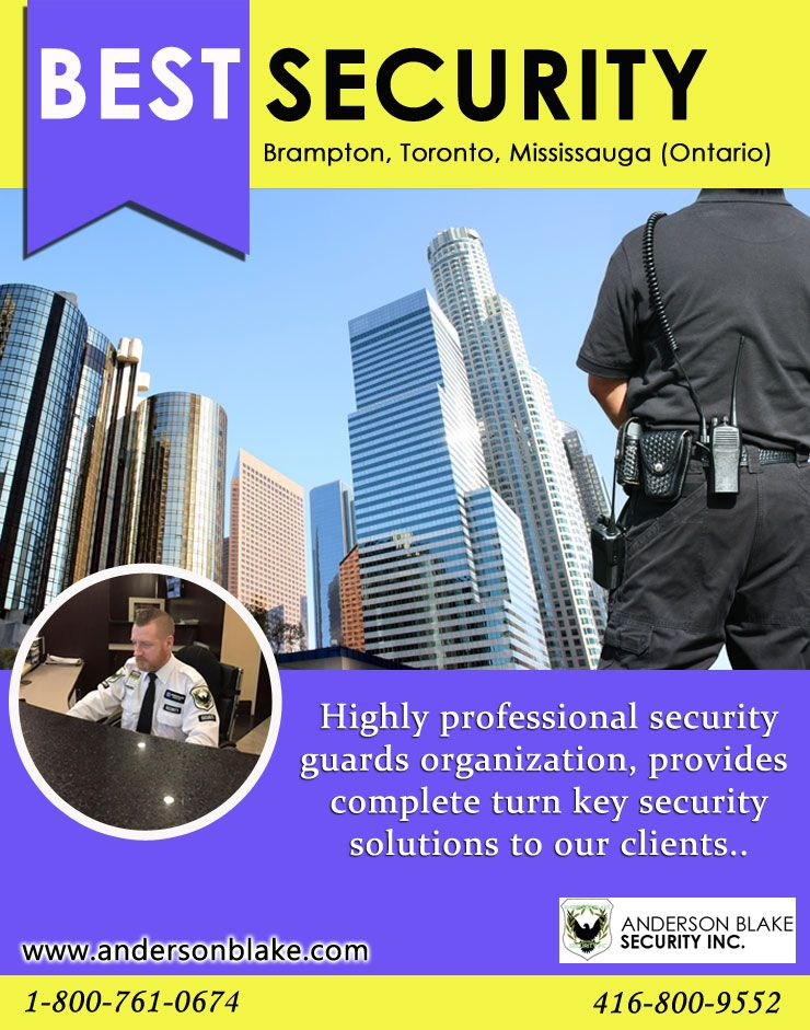 We provide the best security guard services in Brampton