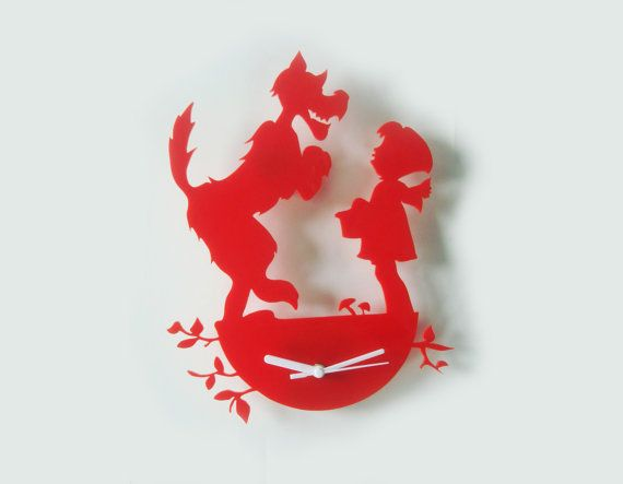 Red riding hood clock red ridding hood roodkapje