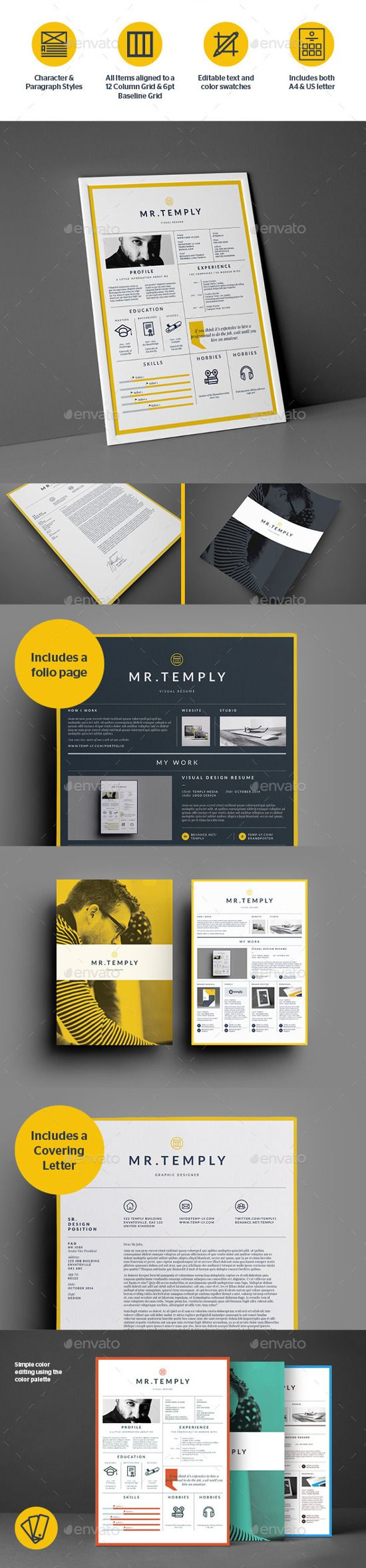 Best Infographic Resume Templates for You   Currículum, Diseño ...
