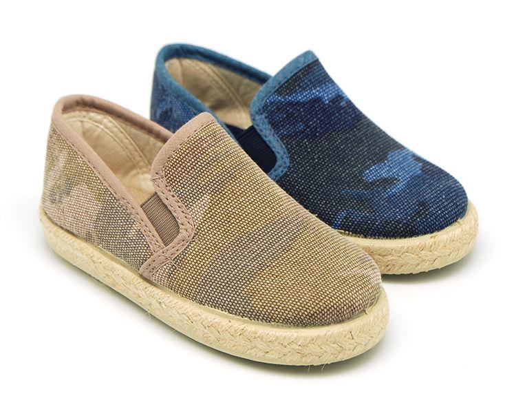 Tienda online de calzado infantil Okaaspain. Alpargata de lona tipo slip on  con estampado camuflaje para niños. Diseño y Calidad al mejor precio hecho  en ... f890adbd3f8
