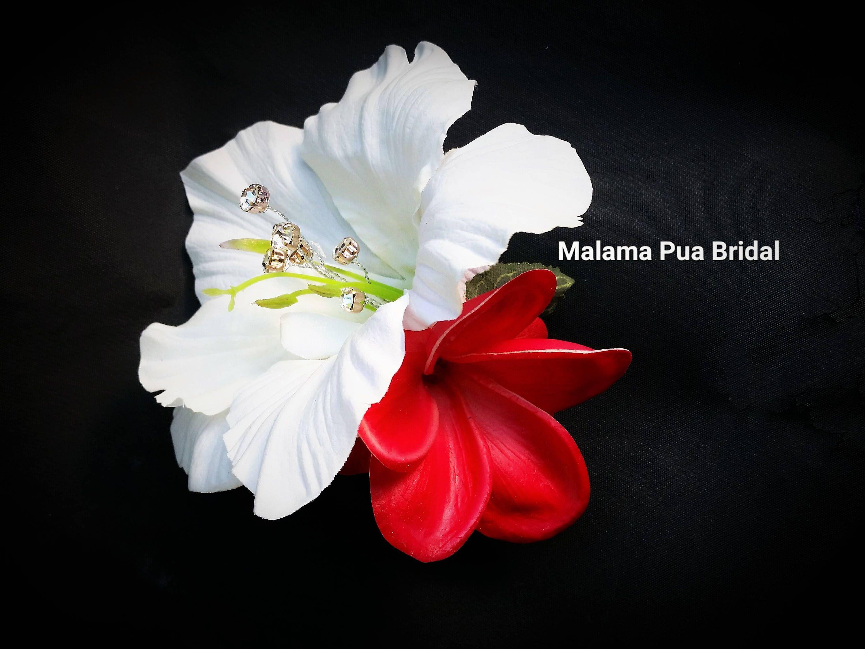 Tropical Flower Hair Clip Hair Accessory Wedding Headpiece