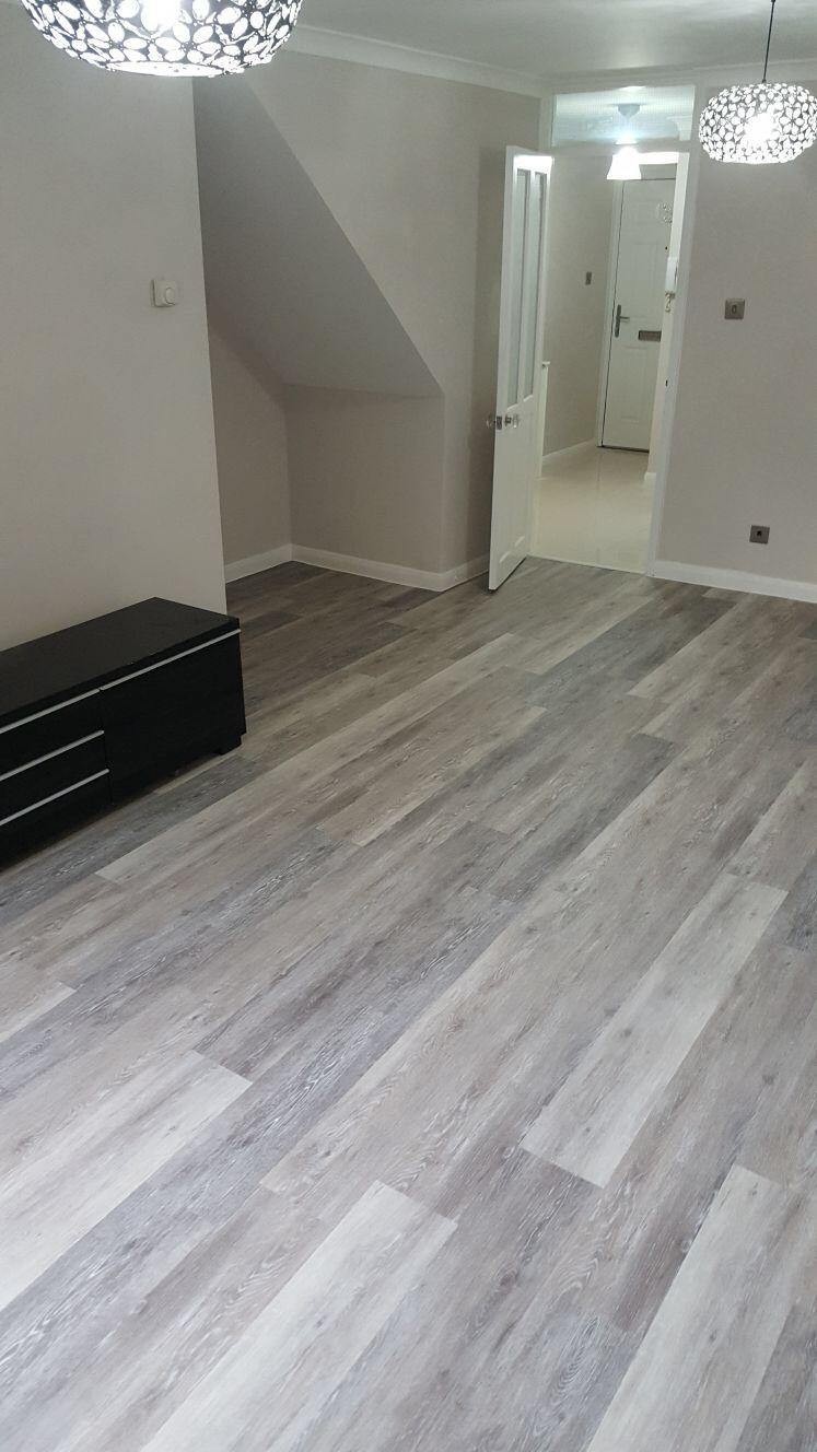 Photo of Amtico Grey Wood Flooring In Wandsworth