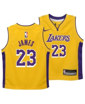4adf7c88433 Nike LeBron James Los Angeles Lakers Icon Replica Jersey