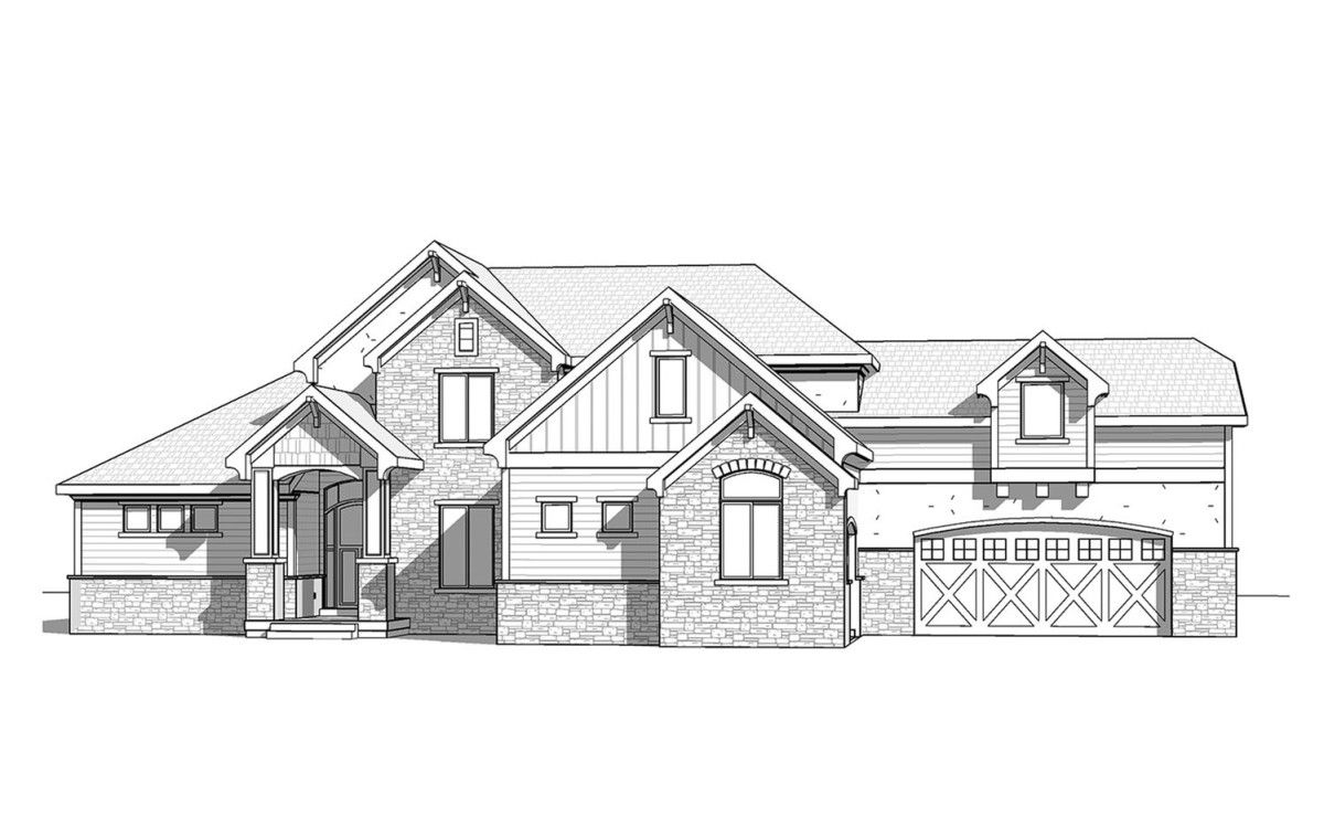 Glenwood - 2 Story Mountain Rustic style house plan - Walker Home ...