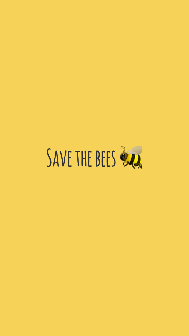 Yellow Save The Bees Wallpaper Pretty Wallpaper Iphone