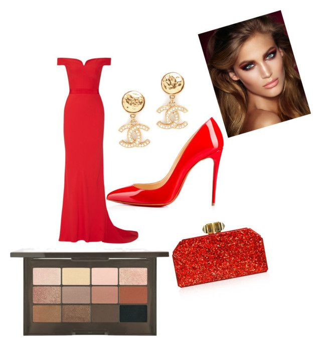 """""""Vanity Fair after party 2018"""" by lillibauer ❤ liked on Polyvore featuring Alexander McQueen, Christian Louboutin, Judith Leiber and Charlotte Tilbury"""