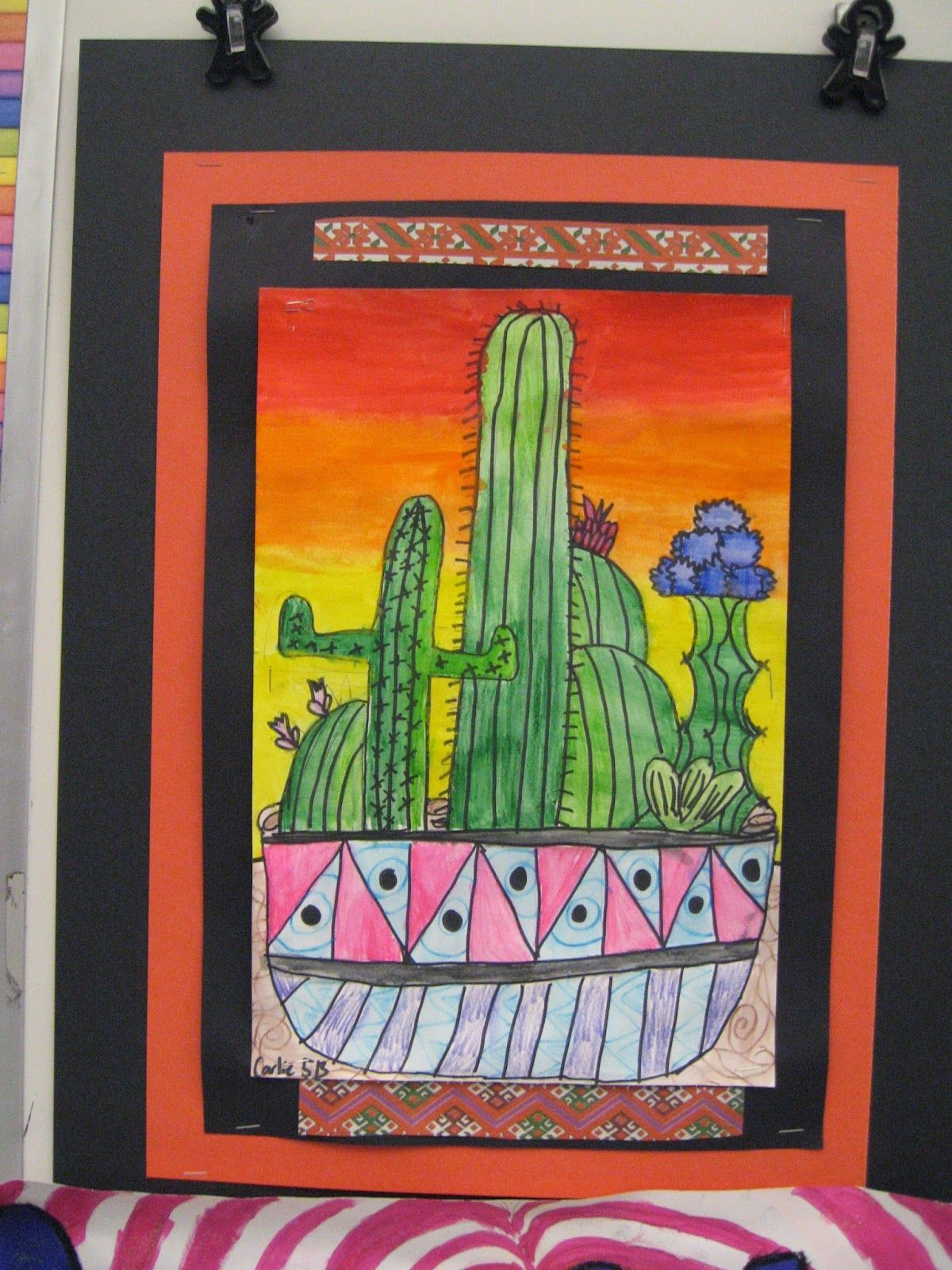 Jamestown Elementary Art Blog 5th Grade Mexican Cacti