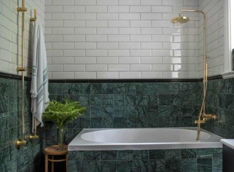 Marmol Verde Una Solucion De Lujo Moderna Para El Bano Y La